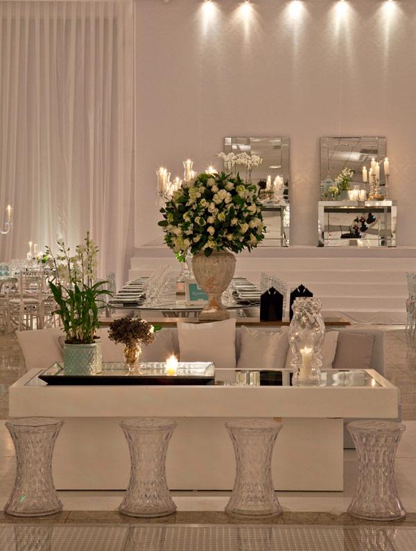 decoracao branca casamento : decoracao branca casamento:Décor de casamento branco espelhado!