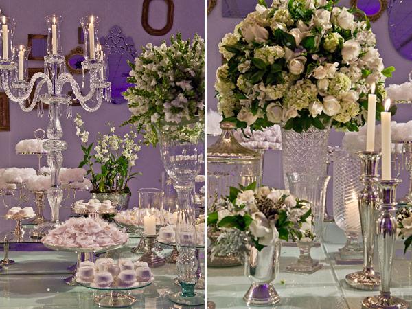 decoracao branca casamento:Décor de casamento branco espelhado!