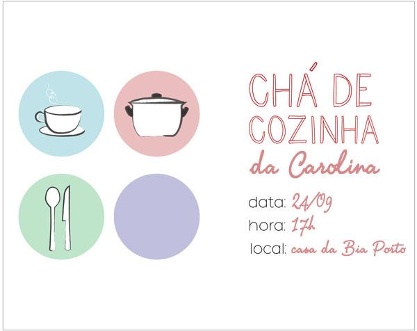 Convites para o chá de cozinha/panela!  